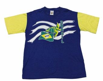 Vintage 90s Brasil Turtle Shirt Mens Size Large