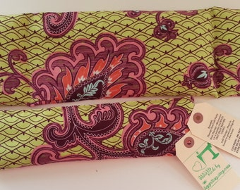 RELAXATION THERAPY Therapy Eye Pillow/Neck Wrap Set Hot/Cold Therapy Microwaveable Lavender Rice Flaxseed Amy Butler Belle Love Paisley