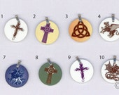Small Metal Charms Charms Fantasy Art Celtic Charms by Nina Bolen