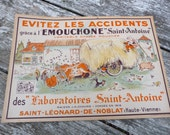 Vintage 1930  French advertisment cardboard CHASSE MOUCHES