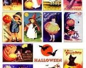 Vintage Halloween Images Download Digital Collage Sheet great for Altered Art Scrapbooks GreatMusings No. 221