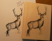 Deer rubber stamp P6