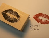 kiss rubber stamp  1.8x1.1 inches P6