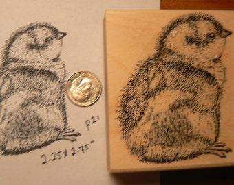 Chicken, chick rubber stamp WM P21