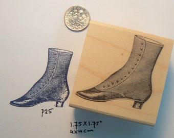 Victorian shoe-boot rubber stamp WM P25