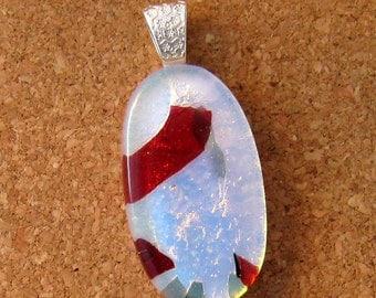 Fused Glass Pendant - Dichroic Pendant - Dichroic Jewelry - Glass Pendant - Glass Jewelry