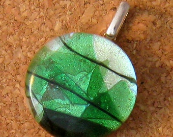 Dichroic Pendant Fused Glass Pendant Glass Jewelry Dichroic Jewelry
