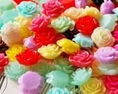 60 Rose Cabochons 15mm