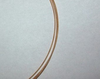 16 ga. 5 ft.  14kt GOLD FILLED  Wire twist, dead soft   Perfect for making earwires