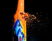 Burrow Bottle - Photograph on Canvas - Collaboration between Jon Smith and Justin Vining