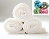 Free Offer - Natural ORGANIC Cotton/ Bamboo Gym Towel / Hand Towel - 16x20- Set of 3 - Choose Your Color Swirl