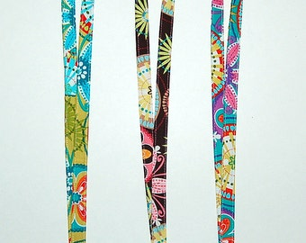 CARNIVAL BLOOM Lanyard - Available in Turquoise, Brown or Lime