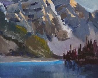 Original Oil Painting, Mountain Landscape