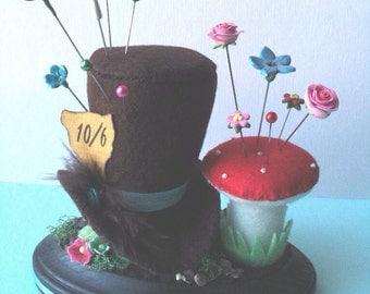 Mad Hatter and Mushroom Pincushion