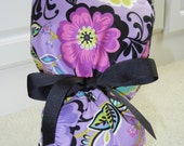 Turn Up Ponytail Scrub Hat with Lavender Bliss