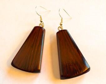 Wood Earrings - Wenge and Birdseye Maple Woods