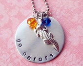 Hand Stamped Florida Gators Necklace