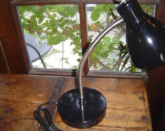 Vintage Inspired Gooseneck Desk Task Lamp with Adjustable Cone