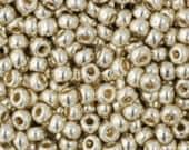 Miyuki Brand, 11/0 Galvanized Silver Seed Beads, 11-91051 24 grams