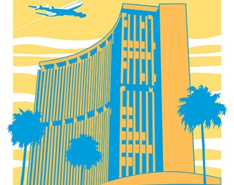 Phoenix Travel Poster Gold print