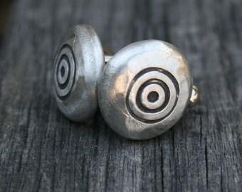 Cufflinks - Cuff Links - Bullseye - Target