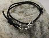 Ascender Bracelet Sterling Silver 11 Cord Colors to Choose From