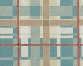 1950's Vintage Wallpaper - Plaid Vintage Wallpaper of Blue Tan Red and White