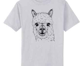 Alpaca Art T-Shirt Youth and Adult Sizes