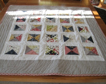 Handmade Boy or Girl Crib Quilt with Sweetwater's Reunion fabric from Moda