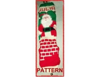 Kris Kringle Down The Chimney Stocking Knitting Pattern
