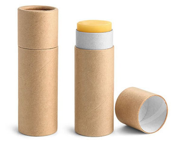 Paperboard Containers 1 Oz Brown Paperboard Push Up Lip Balm