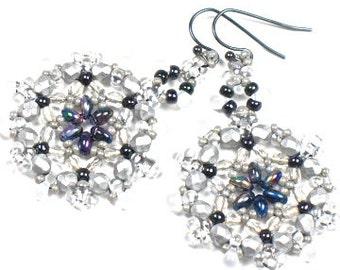 Zora Earrings --  Ice Queen