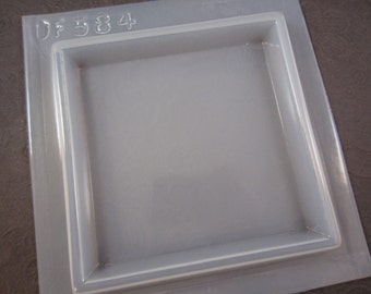 Resin Mold Square Base 4x4 Stand 113mm Display Candle Paperweight