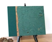 Forest Green Wedding Guest Book Lined or Blank 9x7 Forest Banana Bark - Perfect for Weddings, Open House, B and B, Memorial, Anniversary