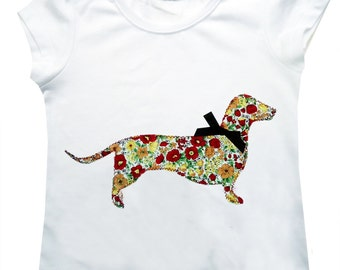 Sausage Dog Tee Shirt  / Girls T-Shirt / Top / Children's Clothes