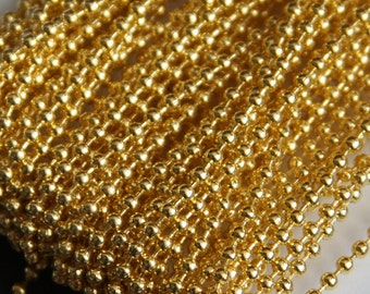 Special Sales:  32 ft spool of Gold plated ball chain 2.4mm