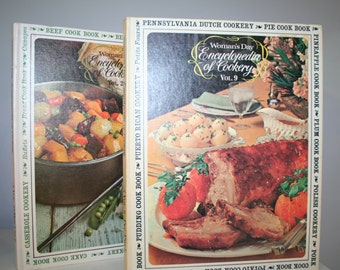 Vintage Two Volumes of Woman's Day Encyclopedia of Cookery Volume 2 and 9