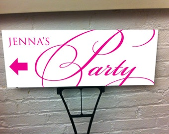 Party Personalized Directional Yard Sign