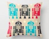 Star Wars Pillow Cover - R2D2 Decorative throw Pillow Cover- Nursery decor - Kids Gift ideas