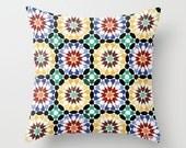 Decorative pillow cover - Morocco Cushion cover - Modern pillow cover - African pillow - Colorful Pillow - Contemporary bedding