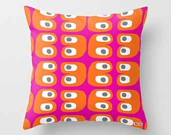 Pink and Orange Decorative pillow cover - Colorful pillow cover - Modern pillow cover - Scandinavian cushion - Contemporary bedding