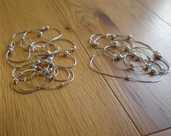 Lot of Two Vintage Strands of Silver Plated Chain Necklaces