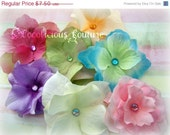 Sale 50% Off EVERYTHING 6 Dainty Flower Clips for Headbands Great for All Ages Newborn Baby Toddler Girl & Adult