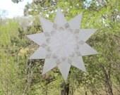 White 10-Pointed Window Star Sun Catcher