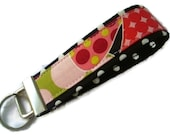 Wristlet Key Fobs - Red Berry Dots