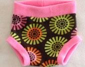 Anti Pill Pinwheel Fleece Diaper Cover