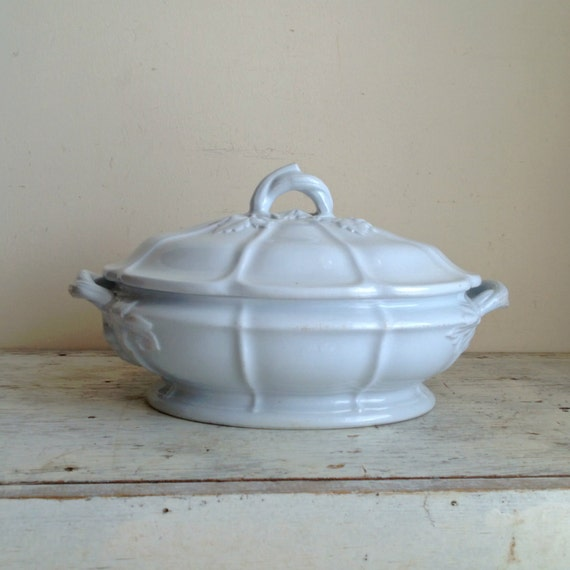 Antique Jacob Furnival Ironstone China vegetable tureen with Lid 1845 - 1870