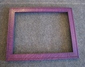 11x14  Quarter Sawn Red Oak Purple Dye Picture Frame