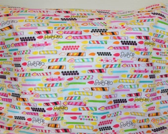 SALE       --------   Candles/Happy Birthday Pillowcase
