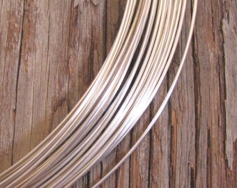 14 Gauge Dead soft STERLING silver Round Wire -  12 inch  one foot Bracelet making perfection